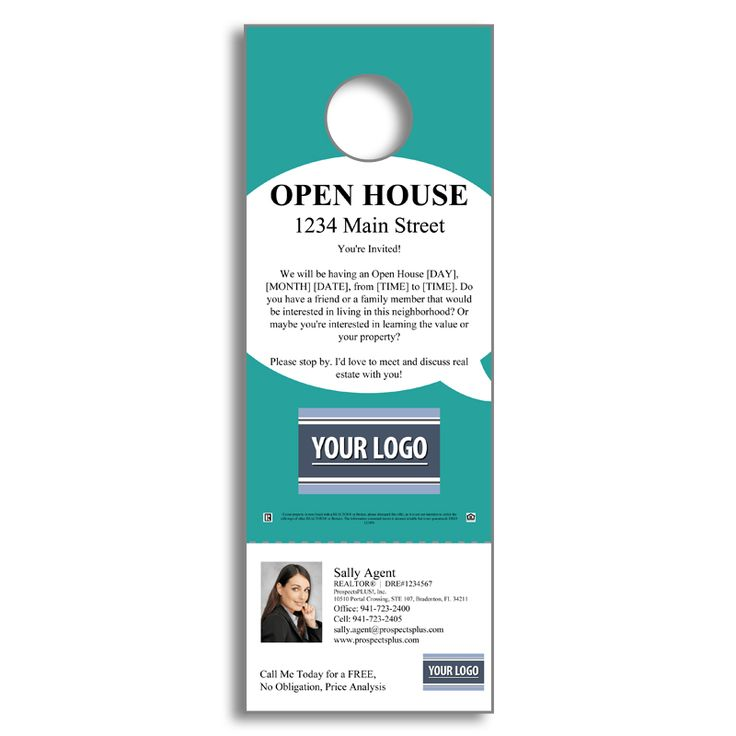 Real Estate Door Hanger Template 23 best door hangers images on pinterest | real estate marketing
