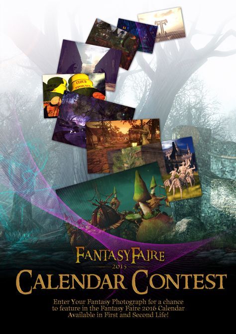 Will Your Photograph Appear in the Fantasy Faire Calendar for 2016?