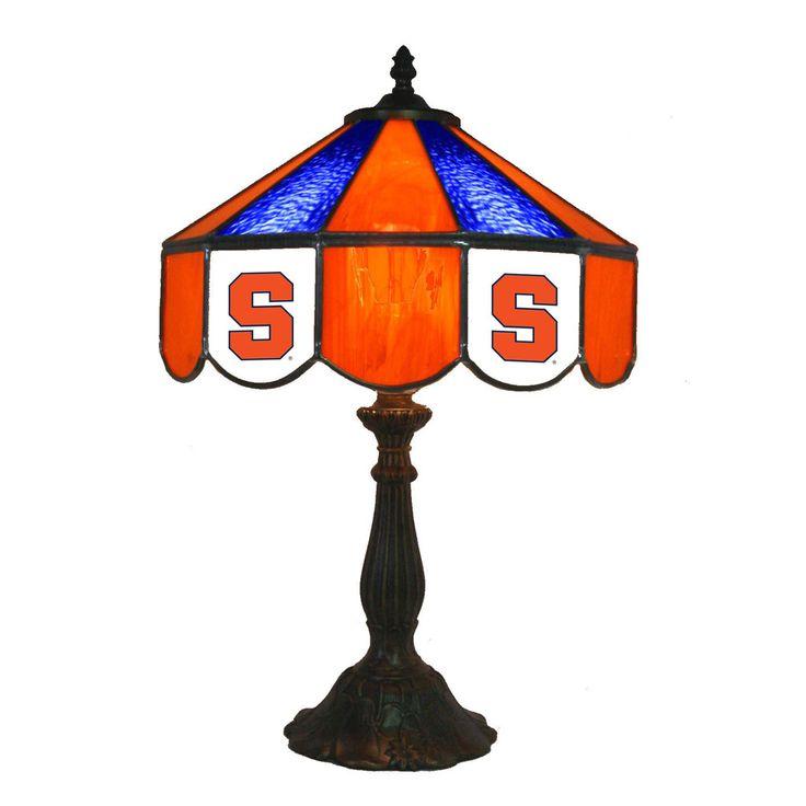 "14"" Syracuse Orange Desk Lamp w/ Tiffany Shade"
