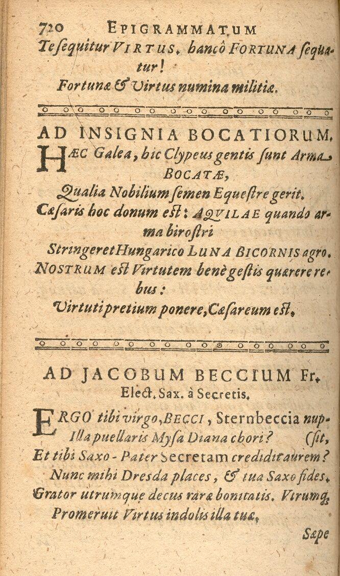 TAUBMANNUS, Fridericus. Schediasmata poetica innovata. Wittenberg, 1610, s. 720.