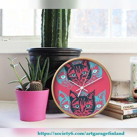 ..tick tock Mollycat clock 😾🐾⏰ @society6 ...Link in bio!   ________________  #cats #猫 #katzen #petcat #katter #instacool #whiskers #coolcat #coolstuff #society6 #shareyoursociety6 #wallclock #catclock #clocksofinstagram #mollycat #designs #catstuff #catsofinstagram #instalikes #cat #catseyes #meow #catlover #instacat #cute #catsagram #mollycatfinland #instafollow #instalike @society6art #instaclock