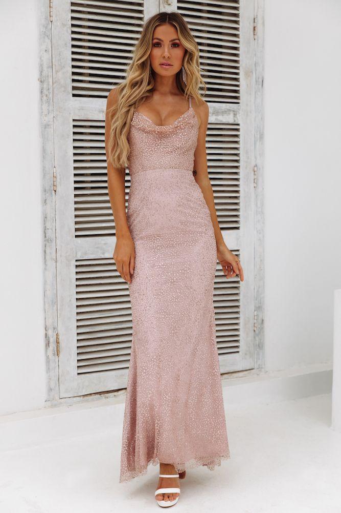 eee39fe63a3 DEAR EMILIA Fame Seeker Maxi Dress Bronze in 2019