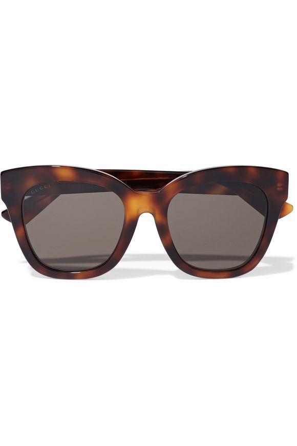 03f71c5afeab4 GUCCI Square-frame tortoiseshell acetate sunglasses