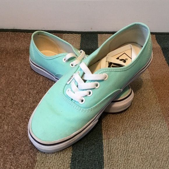 Mint green vans Mint green vans. Only worn twice. Willing to take offers. No trades. Vans Shoes Sneakers