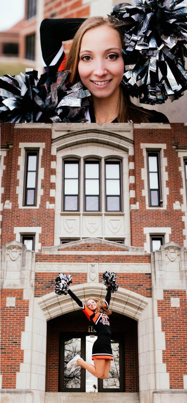 Cheerleader Senior Pictures Tavia - Senior Portraits Haylie Meyer Photography