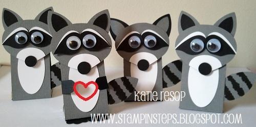 Stampin' Steps: LITTLE LOVE BANDITS. Looks like SU ornament punch, bird builder…