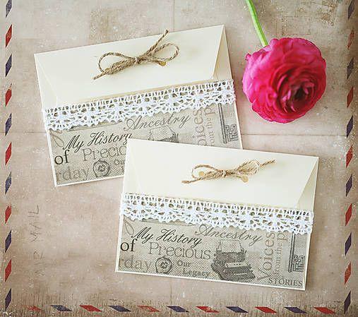 ArtStore / Rustic svadobné obálky na peniaze