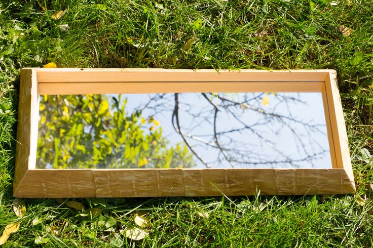 Ash wood frame with mirror - handmade by PriosTeam on Etsy