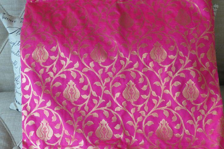Kanchipuram silk sari-- Magenta by ZainabBoutique on Etsy