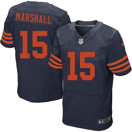nfl mens elite nike nfl chicago bears 15 brandon marshall 1940s throwback alternate navy blue