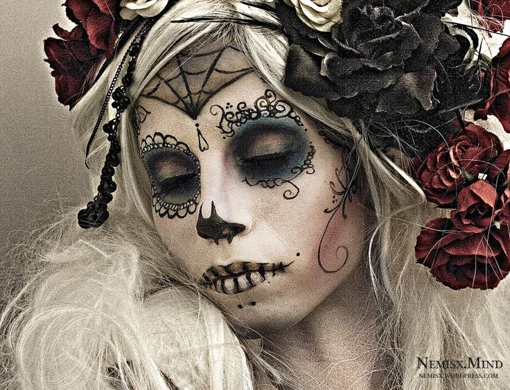 day of the dead, dia de los muertos, sugar skull: Faces Charts, Candy Skulls, Halloween Makeup, Inspiration Pictures, Of The, Dead, Sugar Skulls, Day, Corps Bride