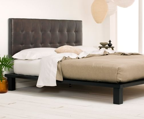 Bedroom:Cheap King Headboards And Bed Frame Ideas Cheap King Leather Headboard And Solide Platform Bed