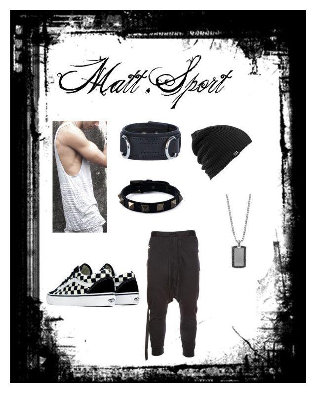"""matt"" by vandamme-chloe ❤ liked on Polyvore featuring Unravel, Vans, Burton, Valentino, Dsquared2, John Hardy, men's fashion and menswear"
