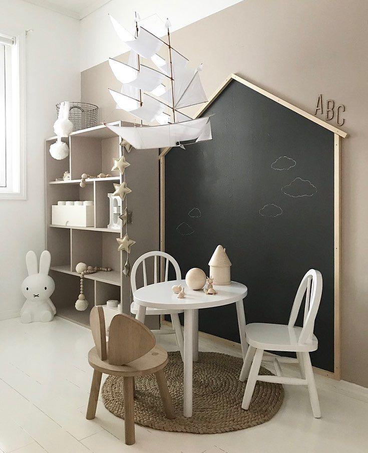 """1,451 Synes godt om, 25 kommentarer – Siv L (@nr13b) på Instagram: """"Little girl's room  What do you think, black or white """"house""""? #girlsroom #jenterom #jenterommet…"""""""