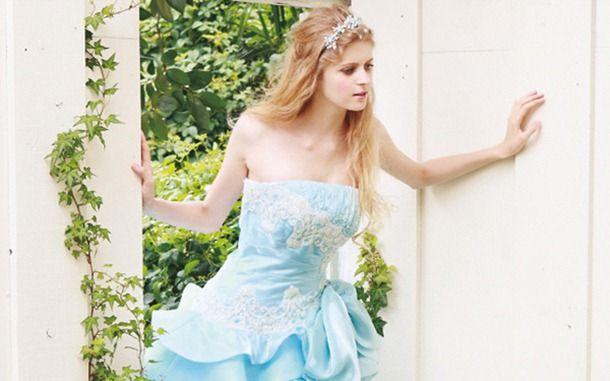 blue-wedding-balika Mavi Gelinlik, Mavi Düğün