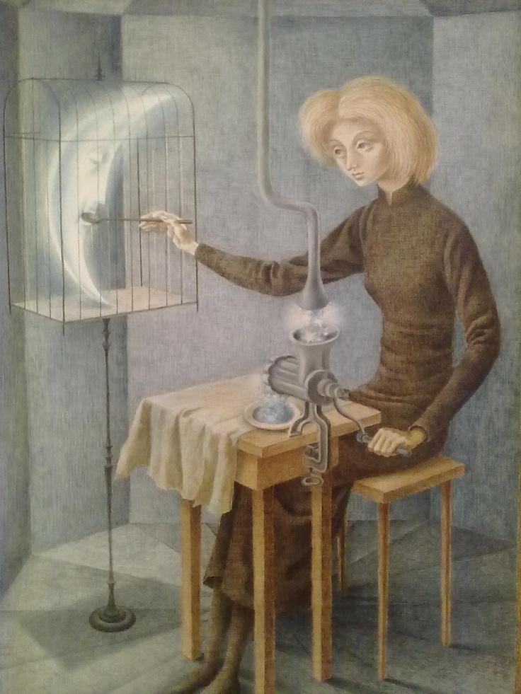 """ACERVO CONTEMPORÂNEO X: """" Papilla Estelar """" do artista Remedios Varo obra de 1958"""