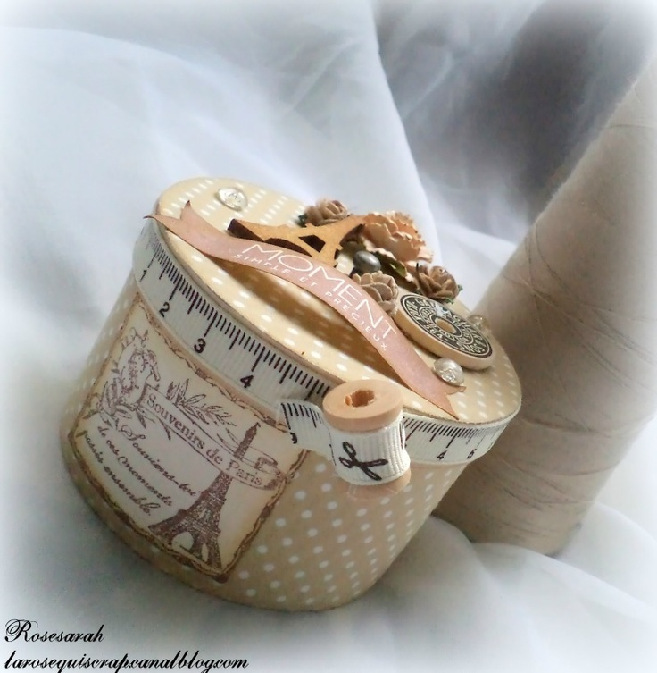 100 best costurero images on pinterest decorated boxes for Kit boite a couture