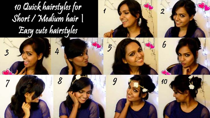 How to: 10 Quick Hairstyles for Short / Medium Hair | Easy Cute Hairstyles