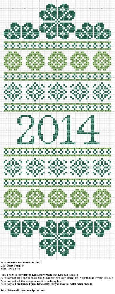 2014 Band Sampler cross stitch