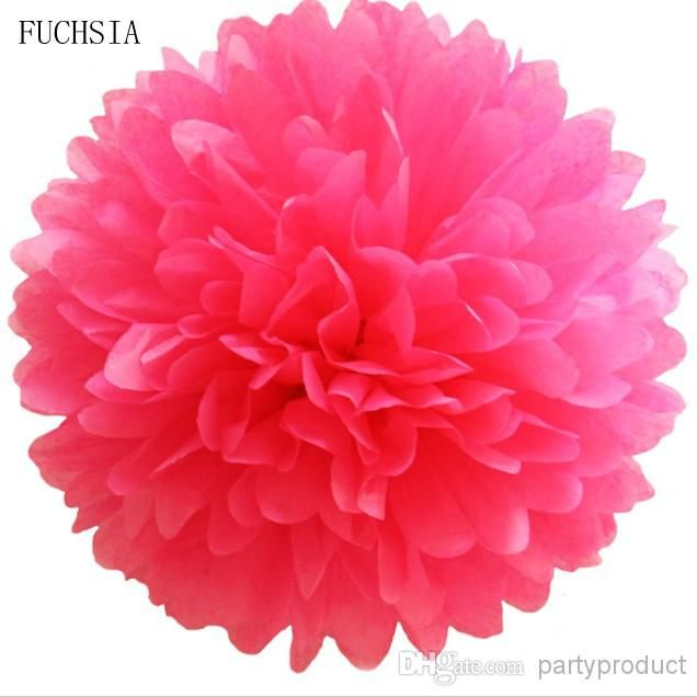 Wholesale Tissue Paper Pom Poms - Buy Colorful 8Tissue Paper Pom Poms Flowers With for Wedding Decorations, Christmas Party And Baby Shower $0.48 | DHgate