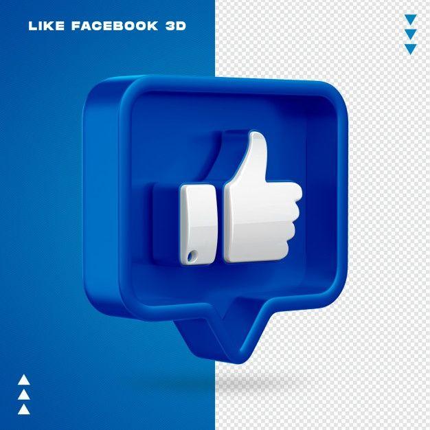 Como Facebook 3d Isolado Facebook Cover Design Vector Art Design Logo Design Mockup