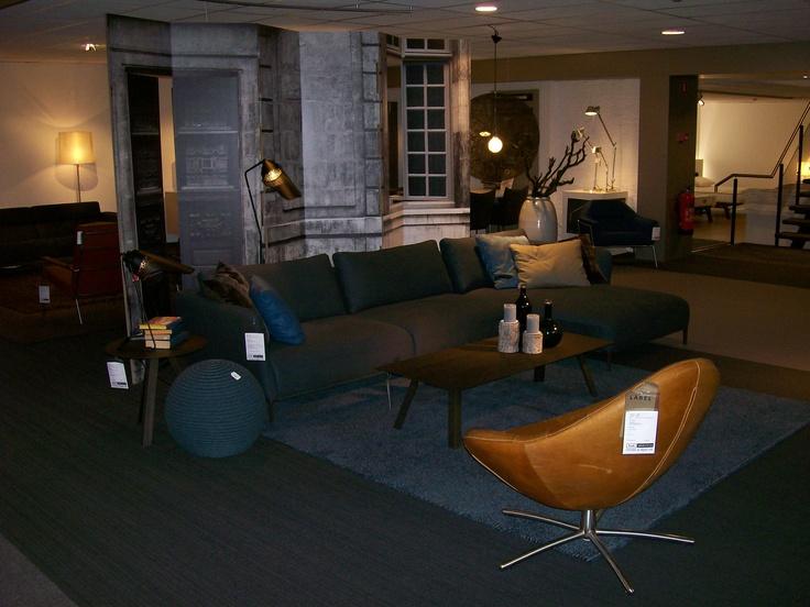 Warm en stoer: de nieuwe bank van Rolf Benz Scala met fauteuil Hidde van Label