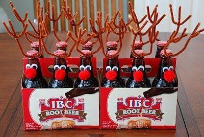 Handmade Christmas Ideas reindeer beer!!!!!!!