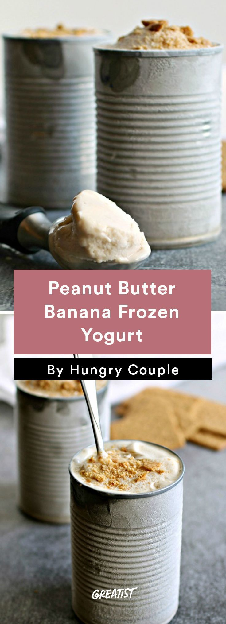 2. Peanut Butter Banana Frozen Yogurt http://greatist.com/eat/frozen-yogurt-recipes-with-5-ingredients-or-less
