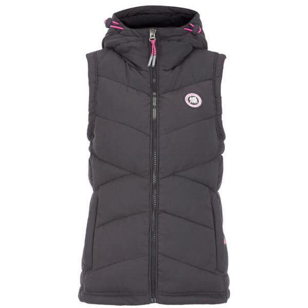 Superdry Women's Gilet ($76) ❤ liked on Polyvore featuring outerwear, vests, navy, padded vest, navy blue vests, patch vest, zip vest and sleeveless vest