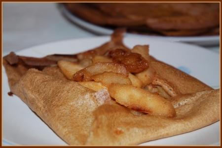 Crêpes au cidre et aux pommes