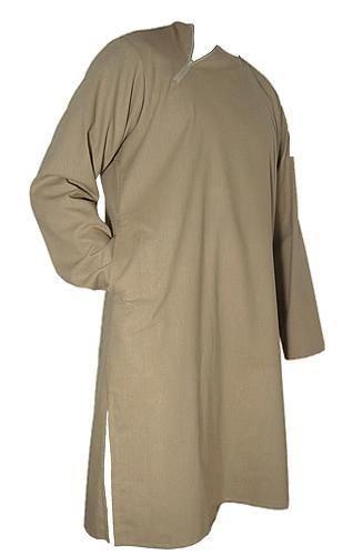 Casual Islamic Men's Tunic Shirt Cotton Blend