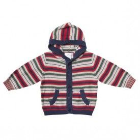 Bebe Marcus Knitted Striped Hoodie