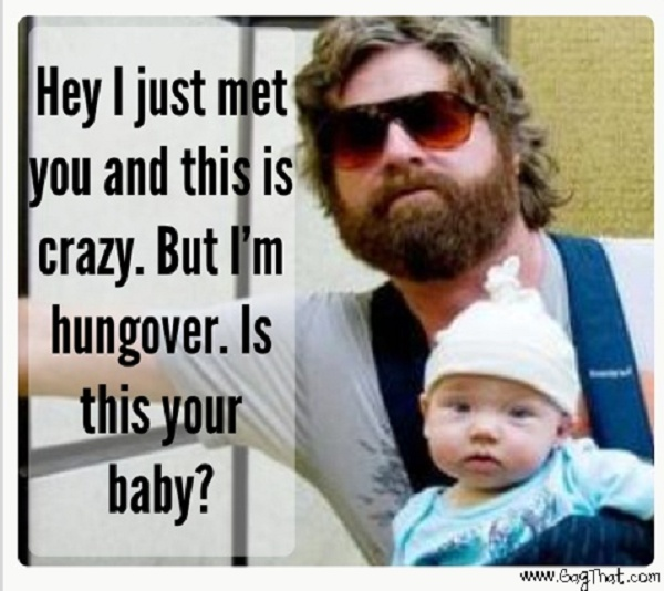 LOLOLOL The Hangover Funny Baby Picture