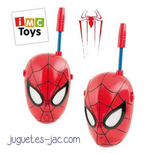 Walkies Talkies con la cara del Spiderman, comunicate con tus amigos a distancia.