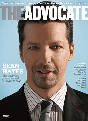 Sean Hayes: Gay Magazines, Gay Rightsprid, Famous Gay, California Proposit, American View, Gay Boards, Magazines Covers, Gay Stars, There Are