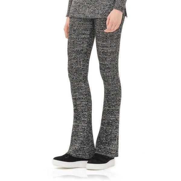 Sandro Pinup Flared Leggings (740 DKK) ❤ liked on Polyvore featuring pants, leggings, black, flared pants, pin up pants, flare trousers, flared trousers and pinup pants