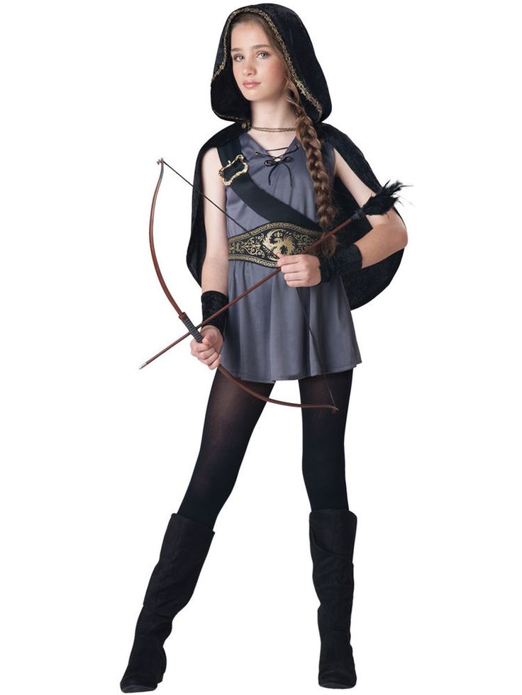 hooded huntress hunter kids girls halloween costume teen wolf tween small 8 10 - Wolf Halloween Costume Kids