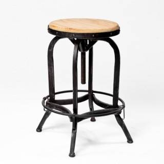 @Overstock - Enjoy the convenience of being able to adjust the height of your barstool at any time and with ease. This natural wood and iron barstool gives your home an irresistably modern style.http://www.overstock.com/Home-Garden/Adjustable-Natural-Fir-Wood-Finish-Barstool/6087759/product.html?CID=214117 $129.00