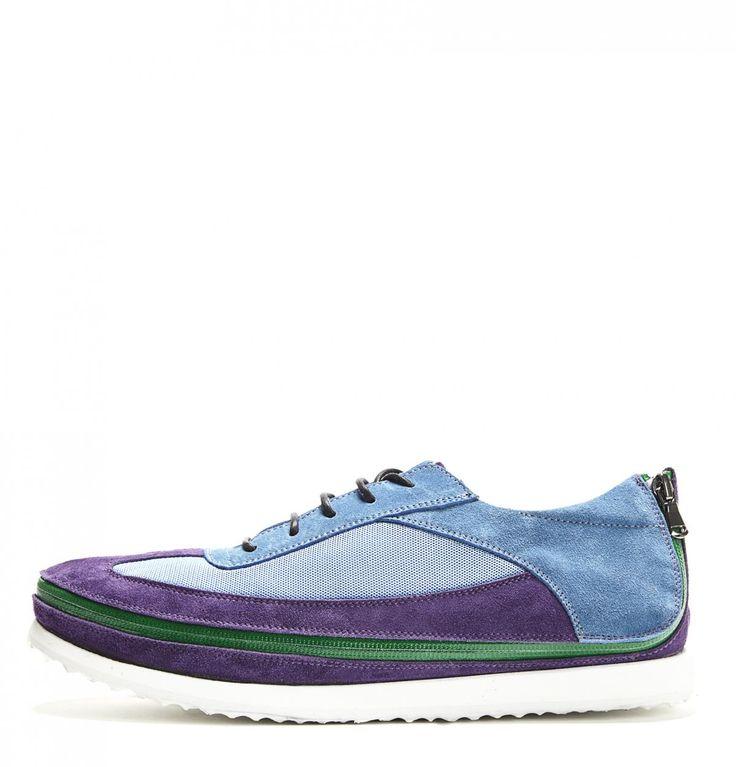 Blue & Purple Tommy Sneakers