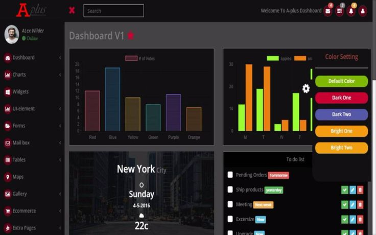 A-Plus Bootstrap Dashboard