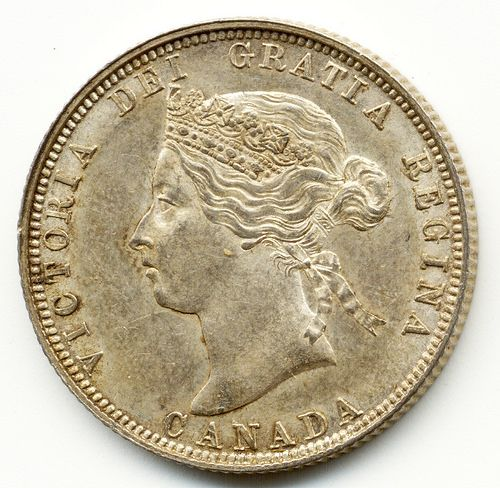 1882 H, CANADA, 25 CENTS SILVER COIN, Numismatics, London, Coin Shop, Gold Sovereign, Gold coins, Gold Sovereigns For Sale, Half Sovereigns For Sale, Where to sell coins, Sell your coins,  Gold Coins For Sale in London, Quality Gold Coins, Where to buy gold coins, Roman I, Charles I, William IV, Adrian Gorka Bond, 1stsovereign.co.uk