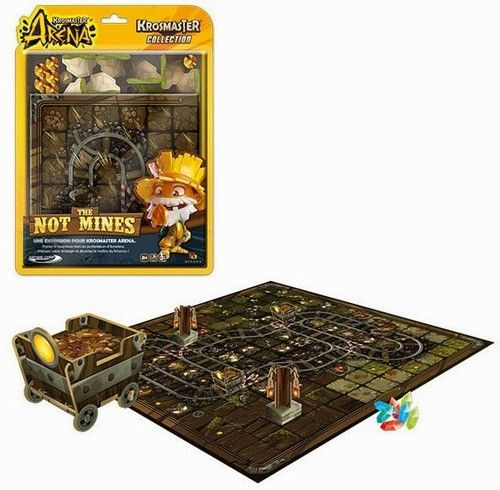 Krosmaster: Arena – The Not Mines consists of a new board/playing field featuring a subterranean world along with a whole new set of terrain.