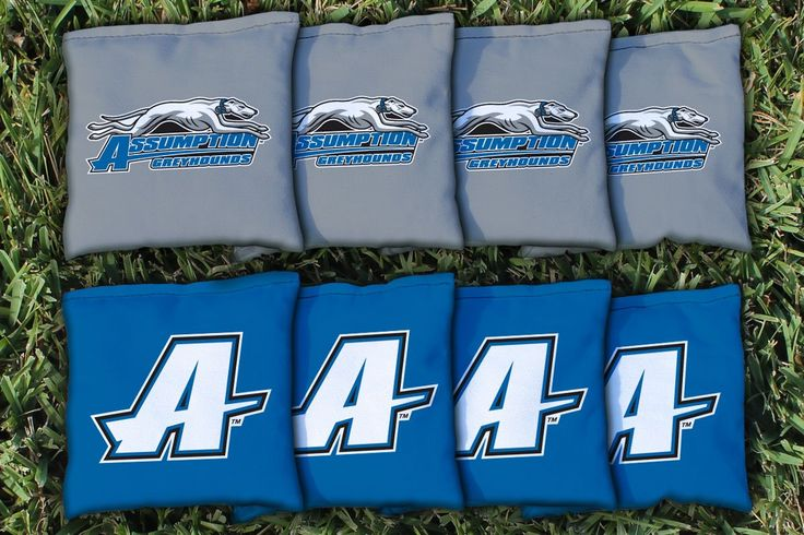 Assumption College Greyhounds Team Logo Cornhole Bag Set