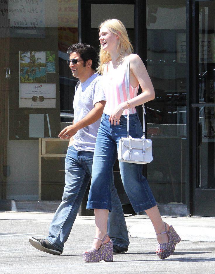 Dakota and Elle Fanning Street Style
