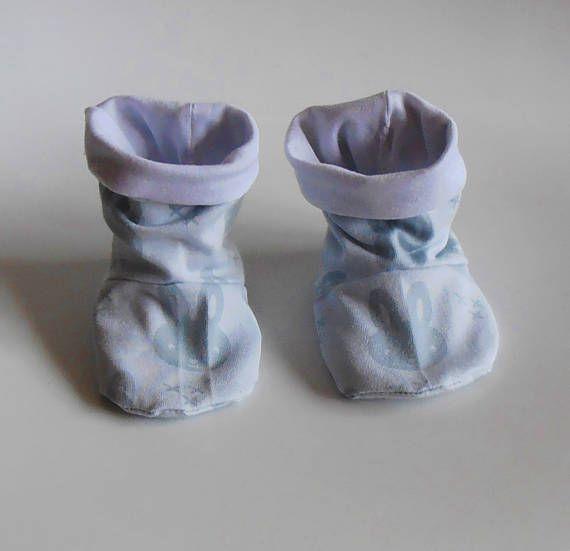 baby slofjes Nijntje blauw wit babyschoentjes babyshower