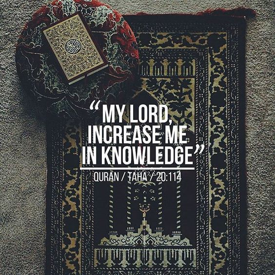 Ya Allah allow us to continue to seek knowledge from you! Ameen.