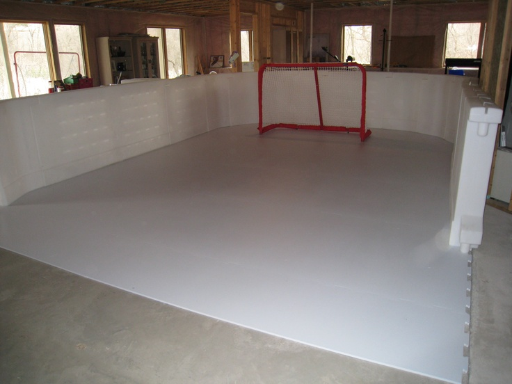 A synthetic ice rink you can have in your basement? Ummm... Awesome!