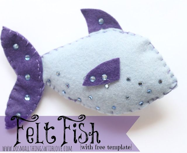 Small Things: Felt Fish {with free template}