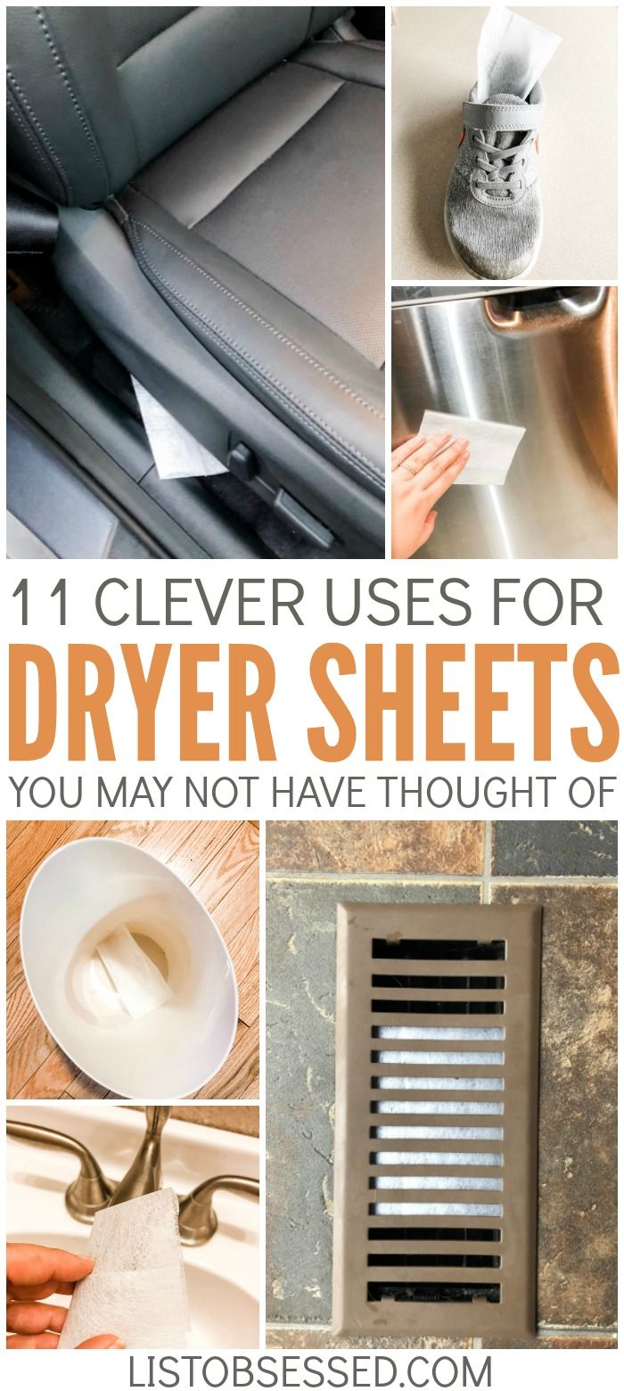 11 Clever Uses For Dryer Sheets To Make Your Place Fresher Uses