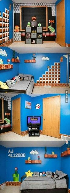 Una camera per bambini a tema Super Mario Bros ...